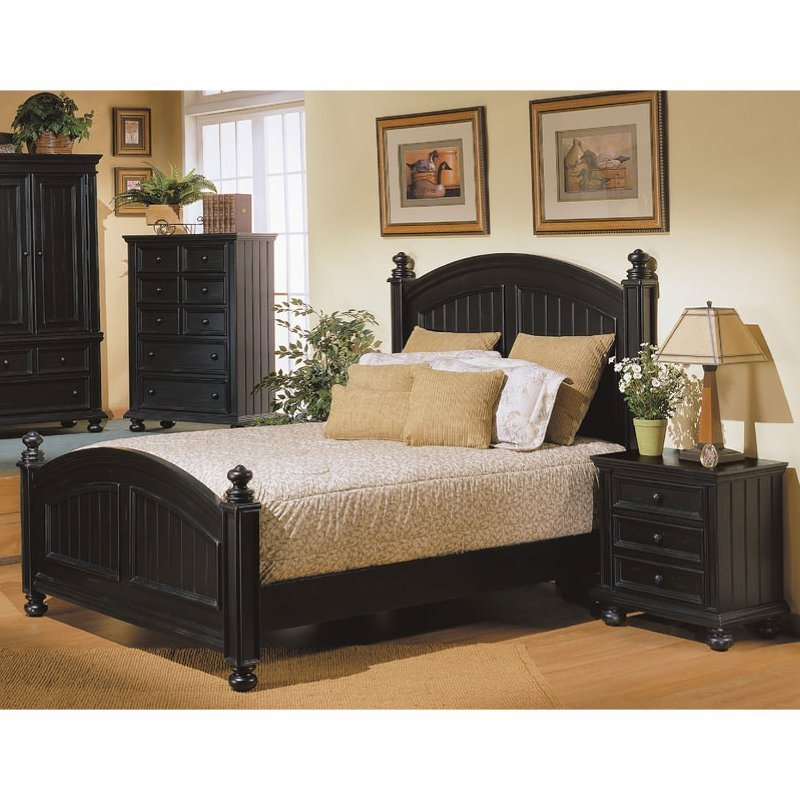 Best Classic Ebony Black 4 Piece King Bedroom Set Cape Cod With Pictures