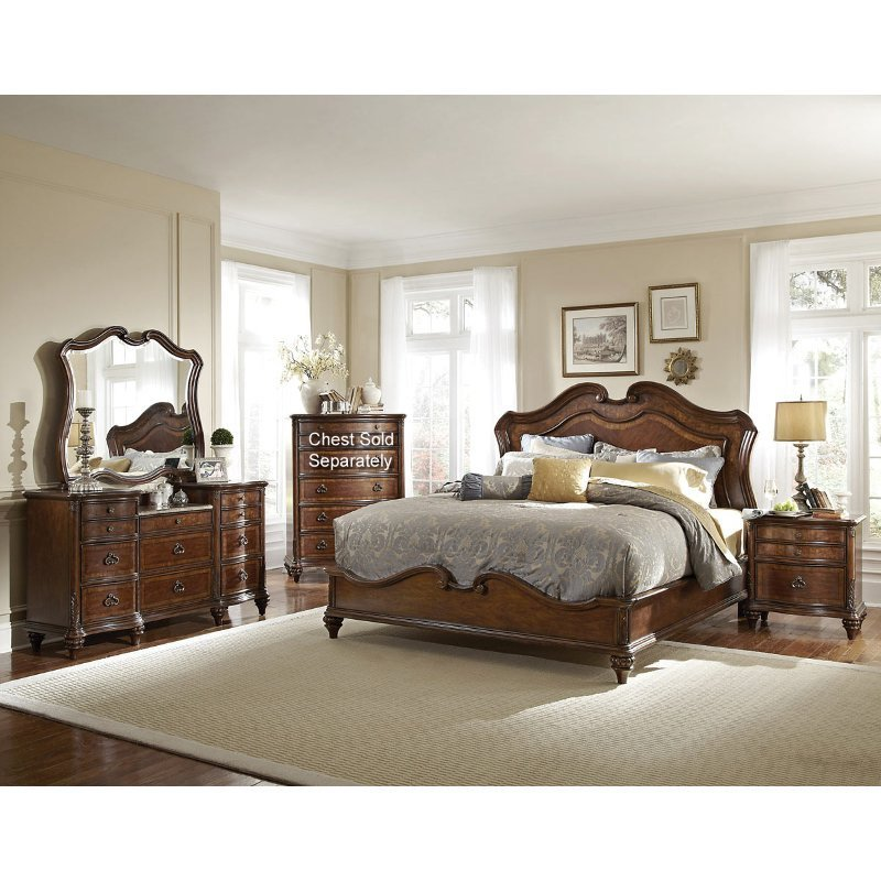 Best Marisol Brown 6 Piece Queen Bedroom Set With Pictures