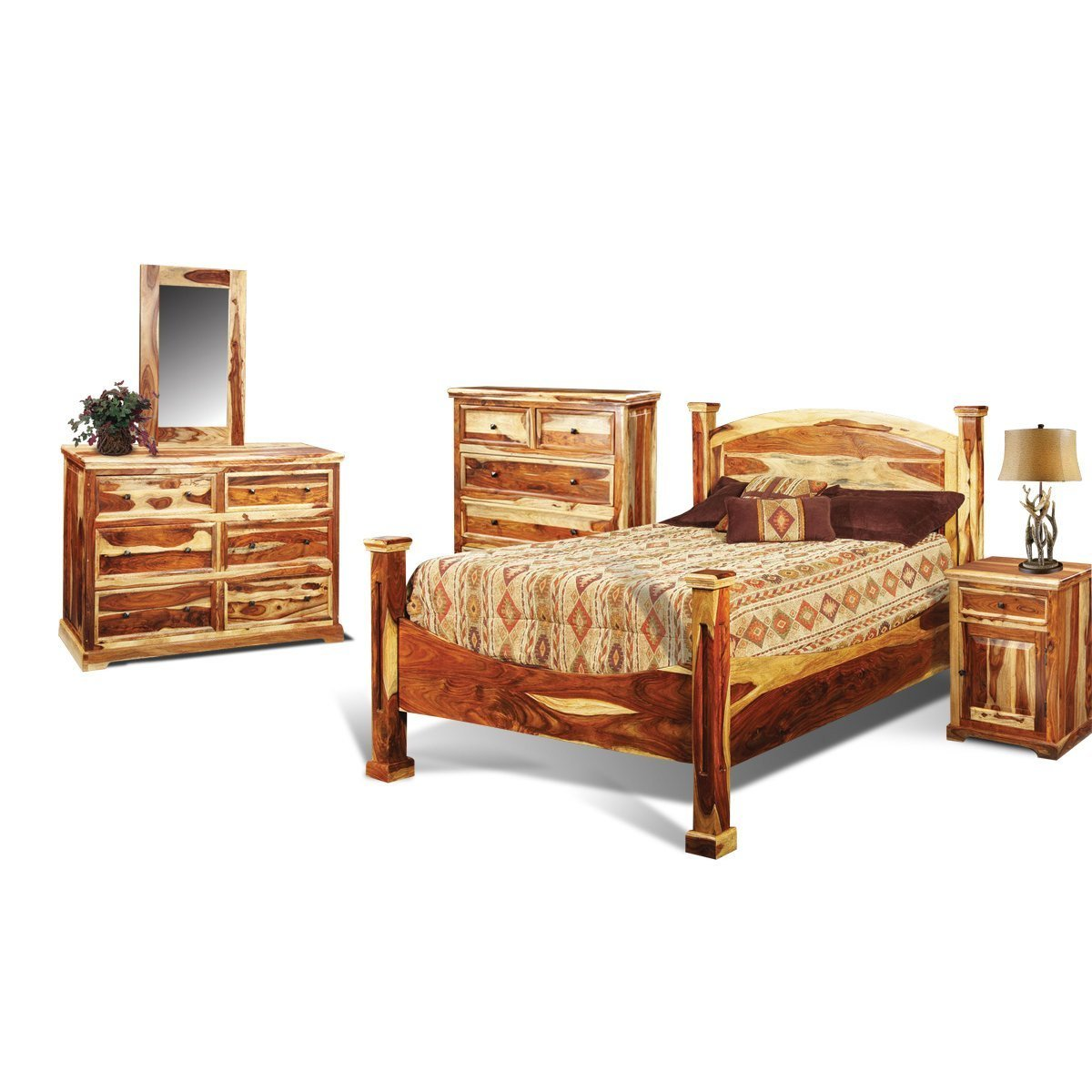 Best Tahoe Pine Rustic 6 Piece King Bedroom Set With Pictures