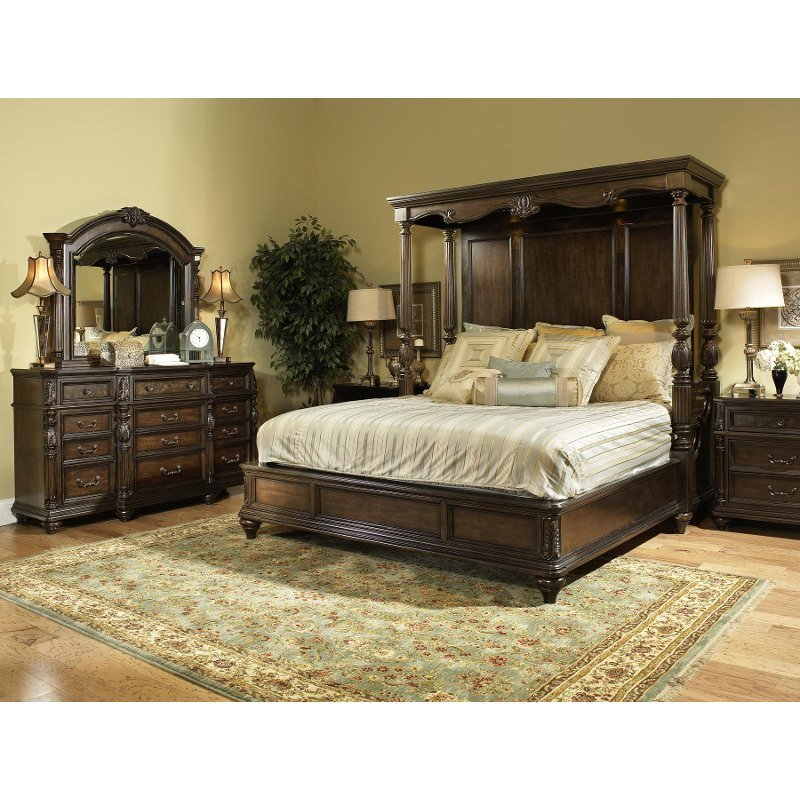 Best Chateau Marmont Fairmont 7 Piece Cal King Bedroom Set With Pictures