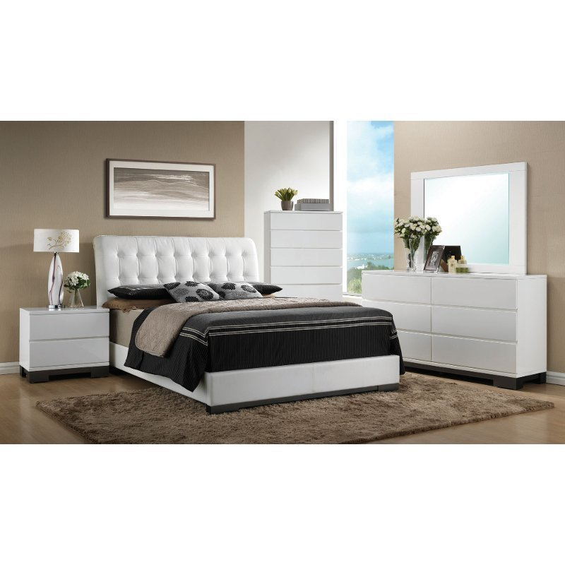 Best Avery 6 Piece White King Bedroom Set With Pictures