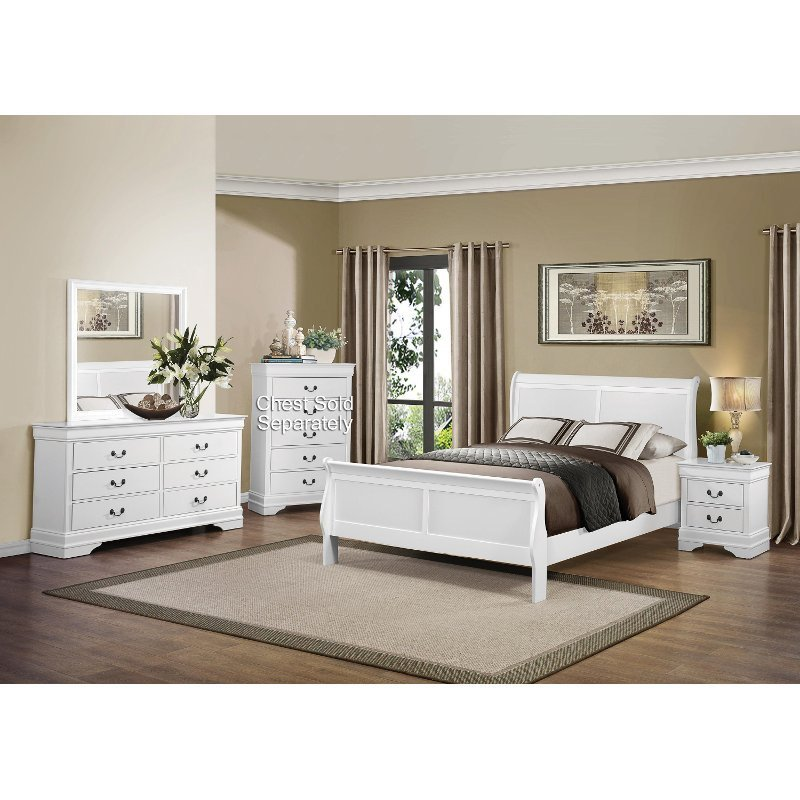 Best Mayville White 6 Piece Full Bedroom Set With Pictures