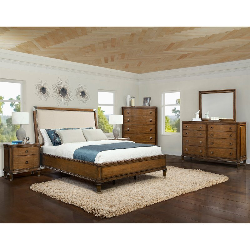 Best Boutique Pearwood 6 Piece Queen Bedroom Set With Pictures