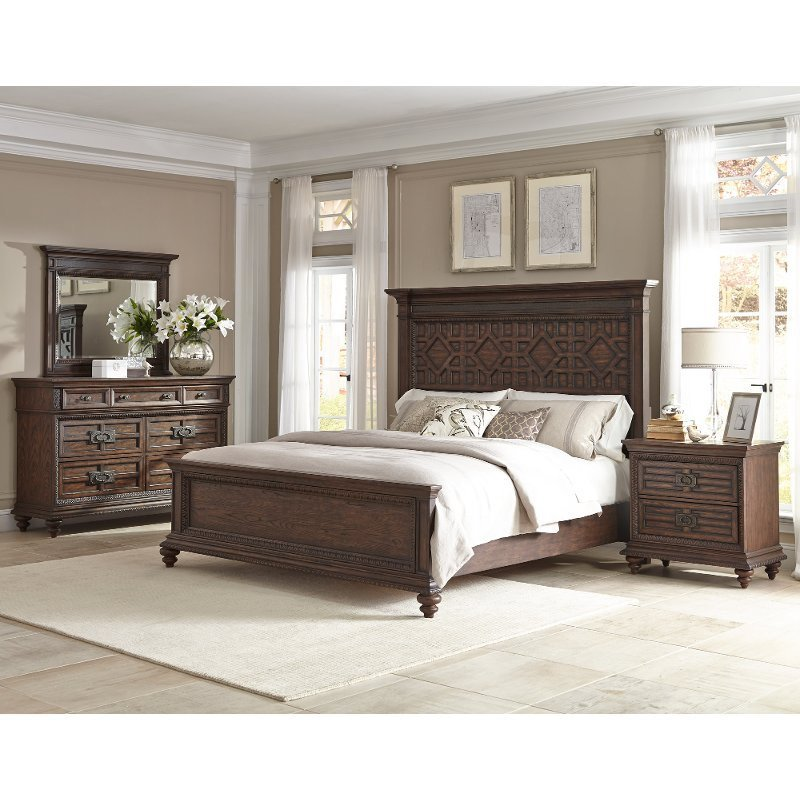 Best Palencia Rustic Brown 6 Piece King Bedroom Set With Pictures