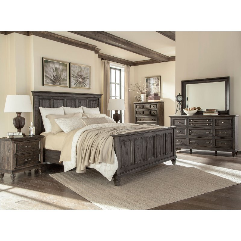 Best Calistoga Charcoal 6 Piece Cal King Bedroom Set With Pictures