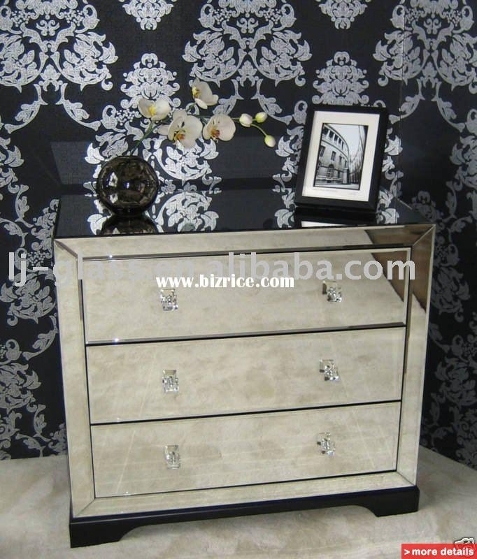 Best Mirrored Chest Glass Venetian Home Furniture Mirrored With Pictures