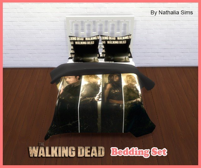 Best The Walking Dead Bedding Set At Nathalia Sims » Sims 4 Updates With Pictures