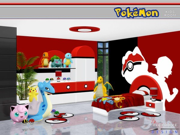 Best Pokemon Kids Room By Nynaevedesign At Tsr » Sims 4 Updates With Pictures