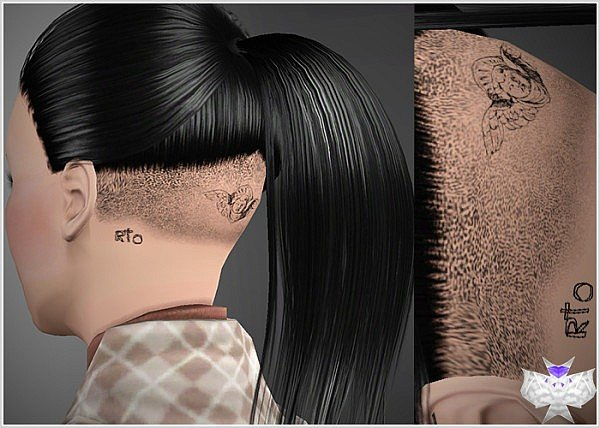 Free Back Shaved With Tattoos Hairstyle By David Sims 3 Hairs Wallpaper