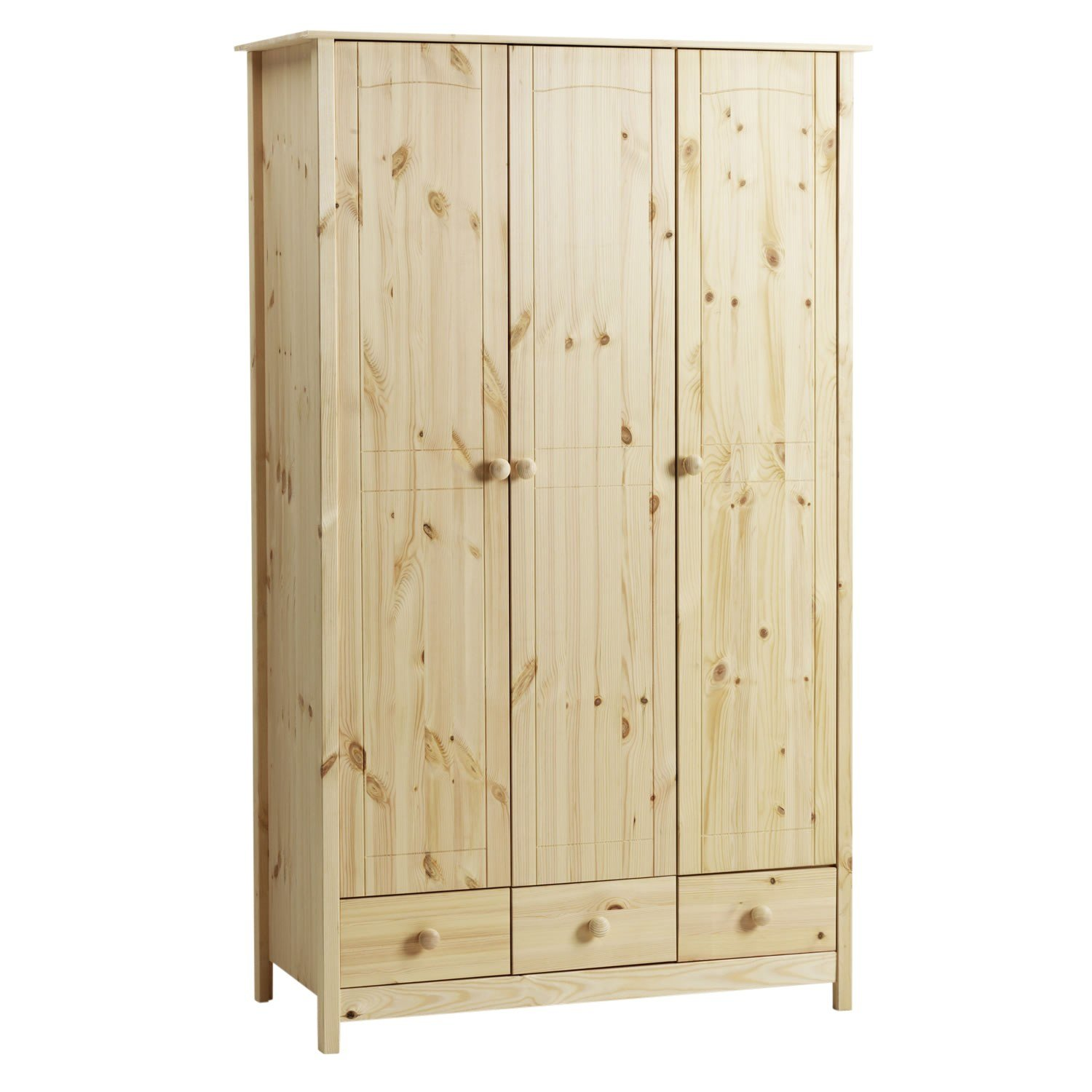 Best Viking 3 Door 3 Drawer Wardrobe Unfinished Pine Simply With Pictures