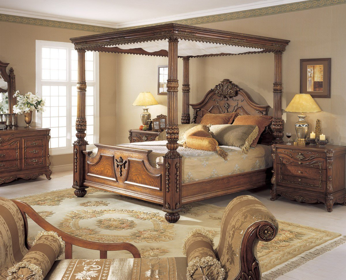 Best Orleans International 6 Pc Renaissance King Poster Bed W Canopy Bedroom Set Ebay With Pictures