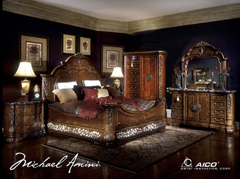 Best Fruitwood Rococo 6 Pc King Bedroom Set With Pictures
