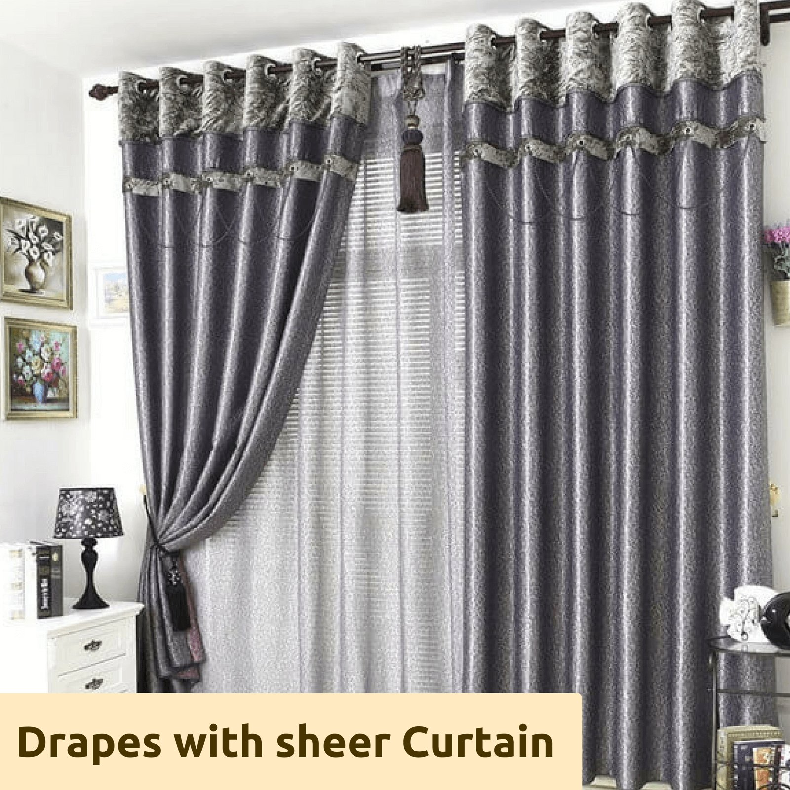 Best Blockout Grey Gray Valance Bedroom Curtains Drapes Sheer With Pictures