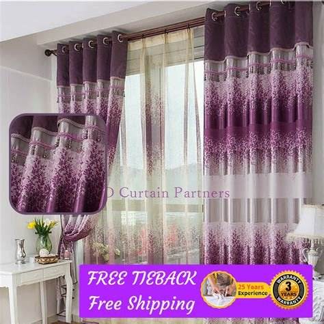 Best Blockout Purple Lavender Valance Bedroom Fabric Drapes With Pictures