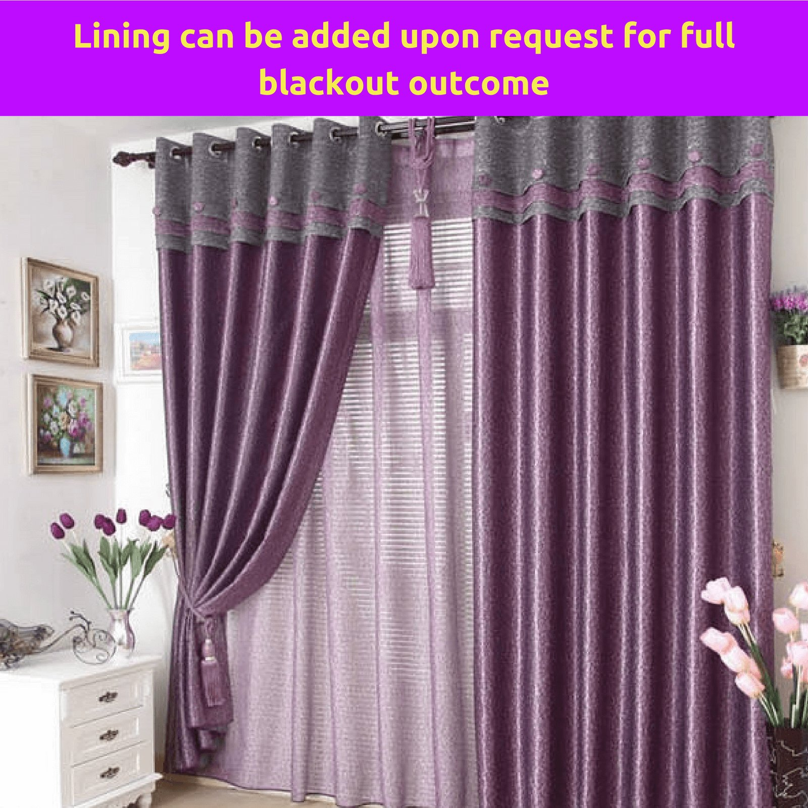 Best Blockout Purple Grey Gray Valance Bedroom Curtain Rods With Pictures