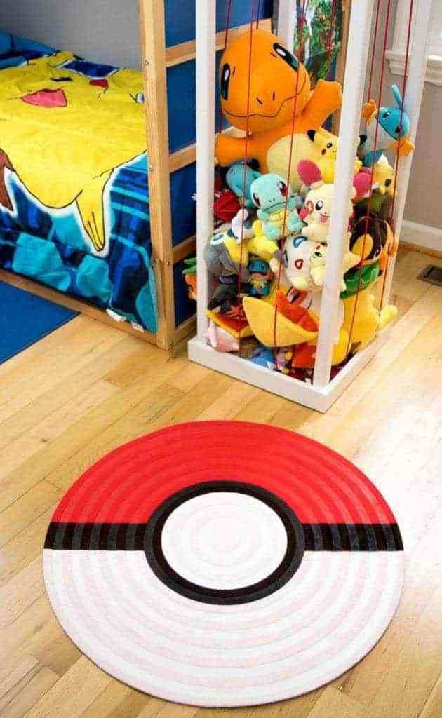 Best Diy Pokeball Rug For Pokemon Themed Bedroom The Handyman With Pictures