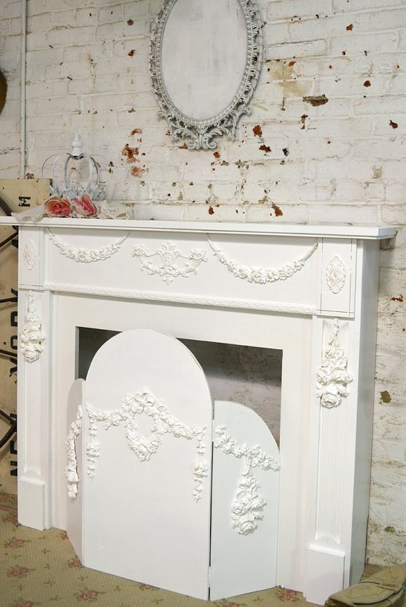 Best Painted Cottage Shabby Chic Fireplace Screen Screen With Pictures