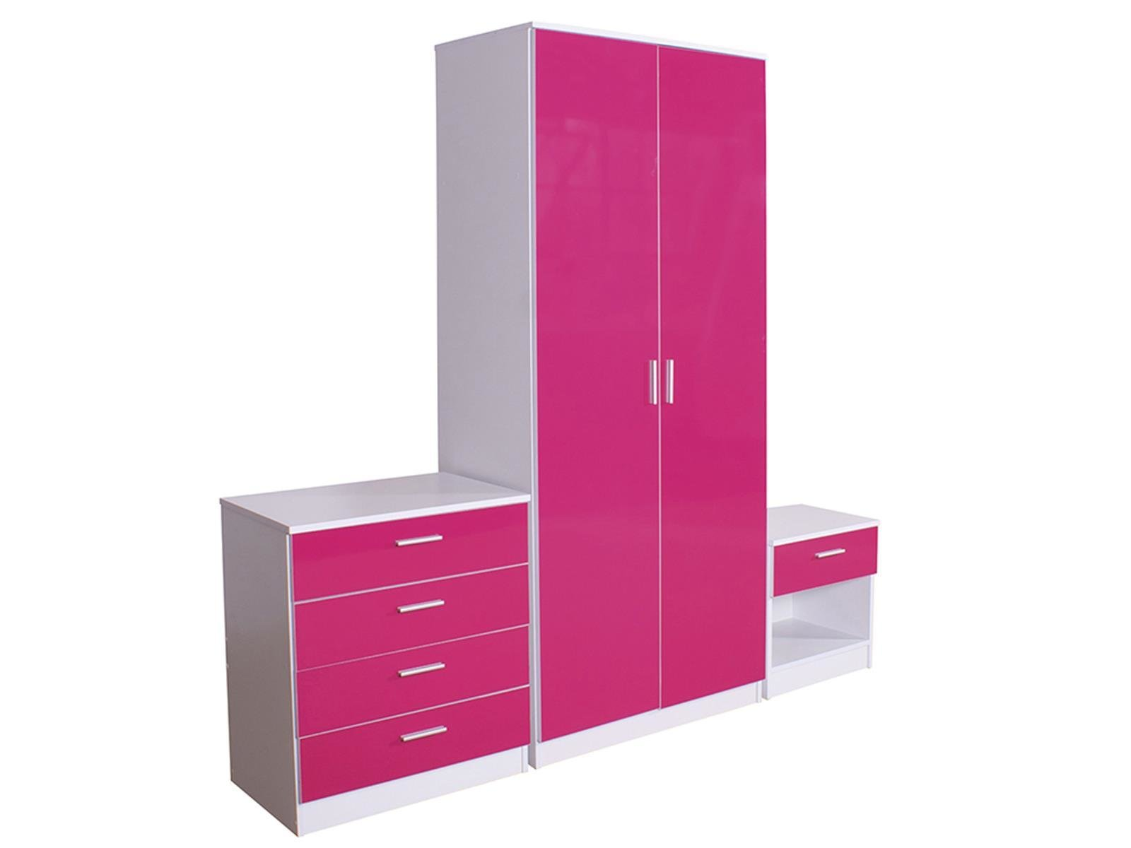 Best High Gloss Pink Bedroom Furniture Uv Furniture With Pictures