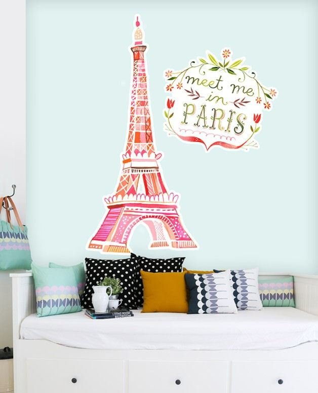 Best Meet Me In Paris Giant Wall Decals With Pictures