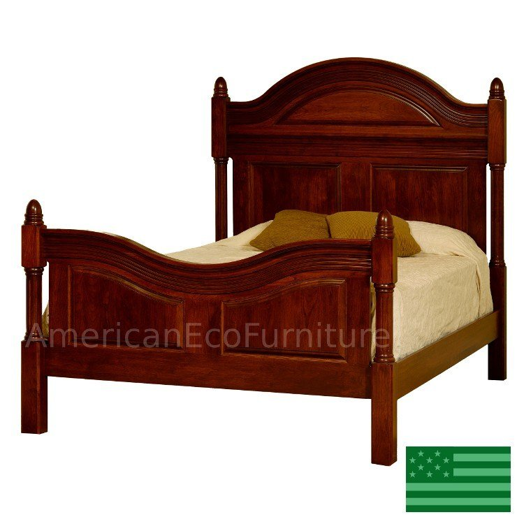 Best Amish Montego Bed Solid Wood Made In Usa American Eco With Pictures