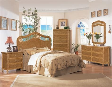 Best B579 Honey Santa Cruz Wicker And Rattan Bedroom 4 Pc Set With Pictures
