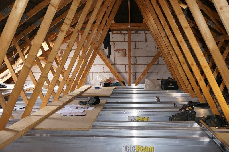 Best Telebeam Loft Conversion In Build Shots Attic Designs With Pictures