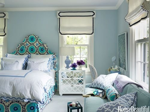 Best Feminine Turquoise And Navy Bedroom Design Ideas With Pictures