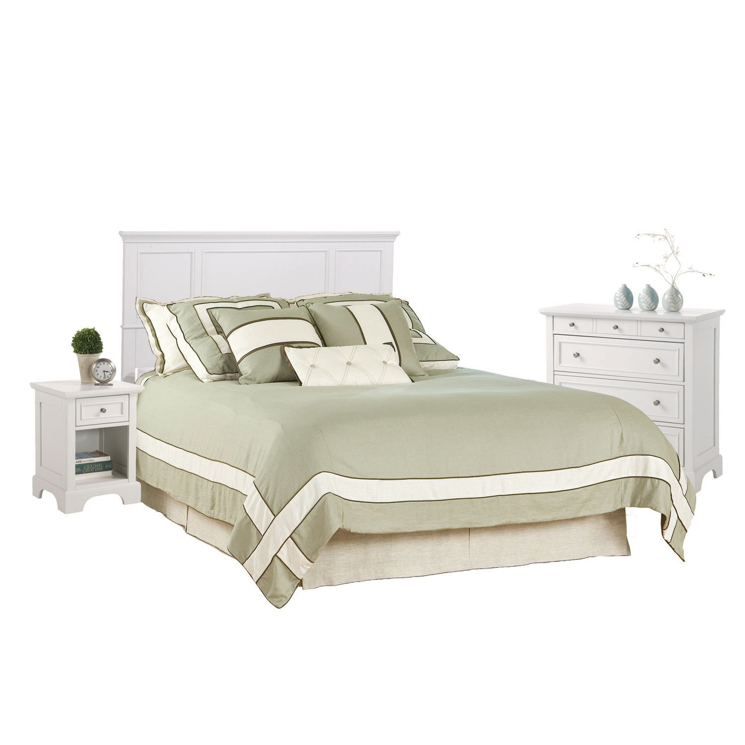 Best Naples White Queen Bedroom Set Home Styles Furniture With Pictures