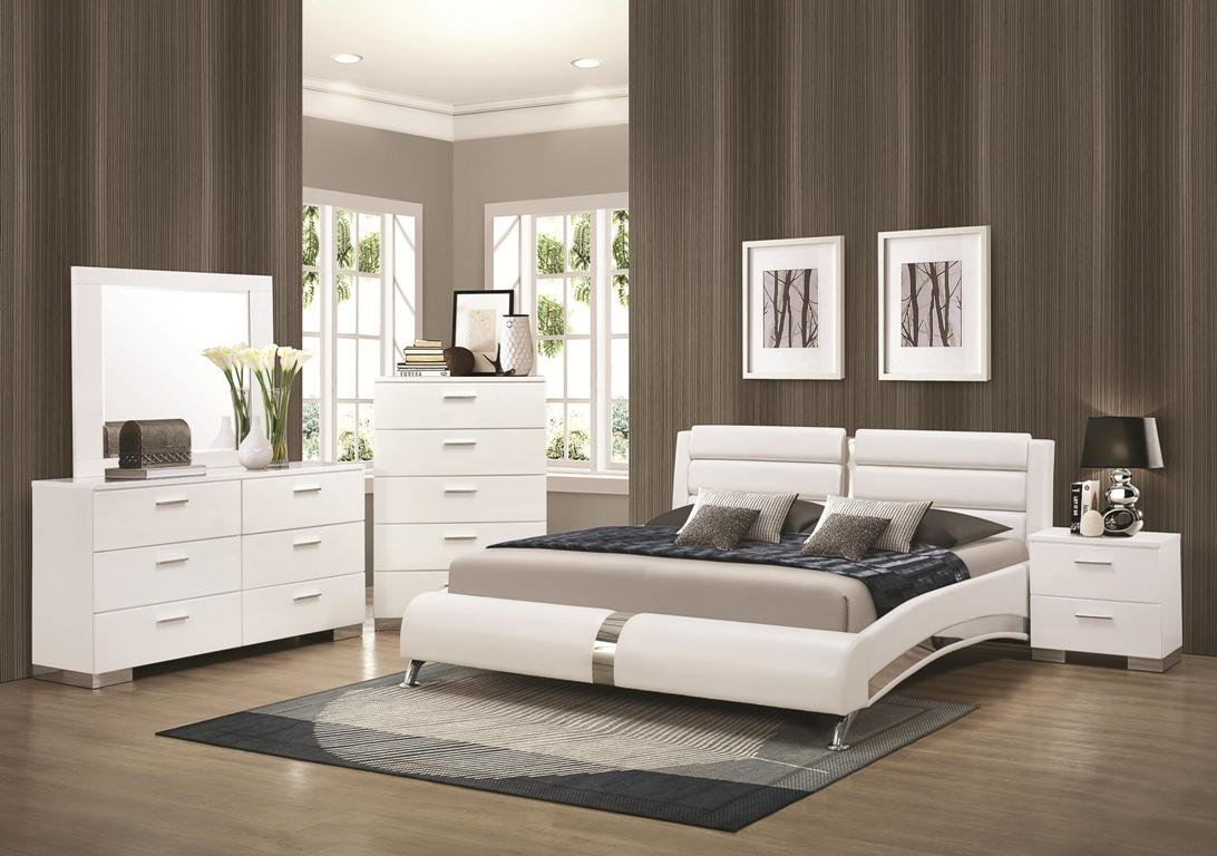 Best 4Pc Bedroom Set Felicity Collection Co White Color Casye With Pictures