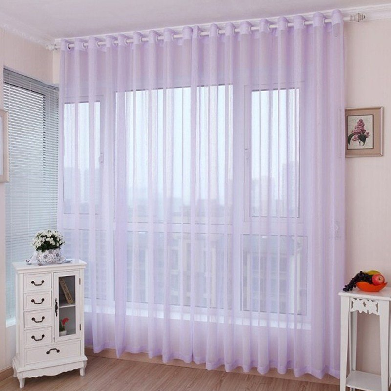 Best Romantic Light Purple Lavender Sheer Curtains For Girls Bedrooms With Pictures
