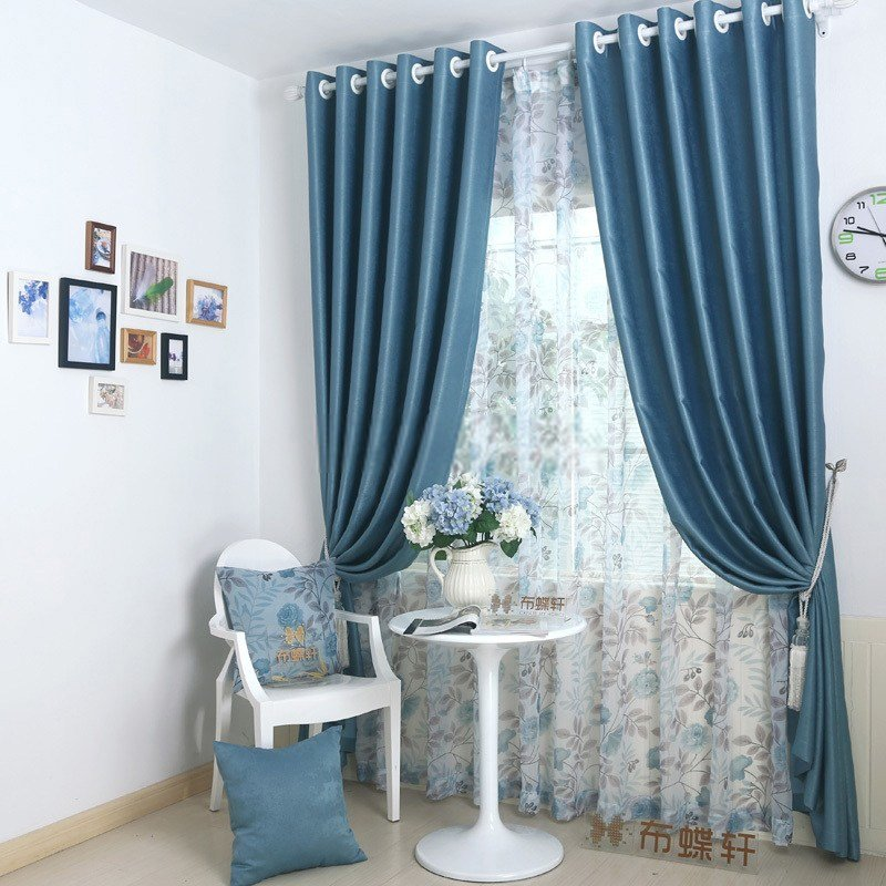 Best Modern Looking Blackout Bedroom Dark Blue Curtains With Pictures