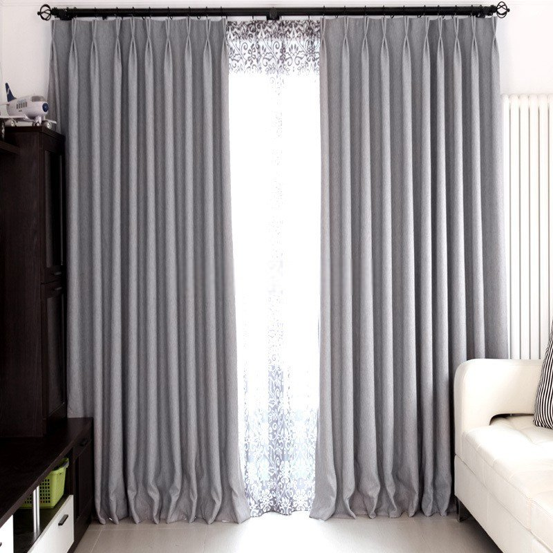 Best Modern Bedroom And Living Room Gray Blackout Curtains With Pictures