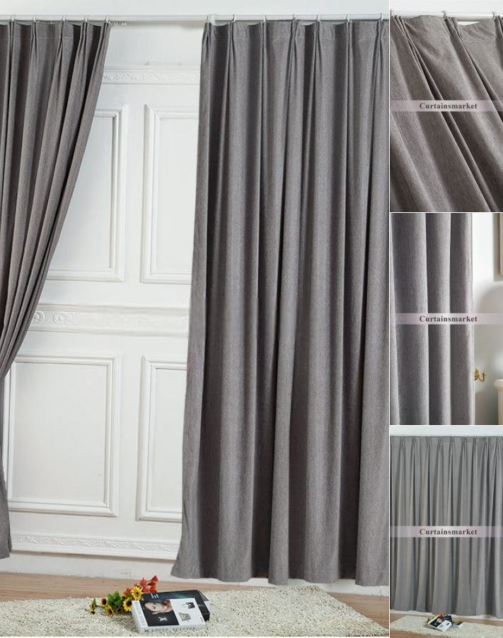 Best Two Panels Elegant Solid Grey Bedroom Curtains With Pictures