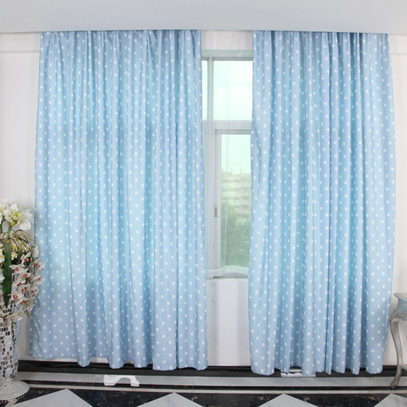 Best Pale Blue Curtains With Polka Dot Patterns Can Decorate Your Room With Pictures