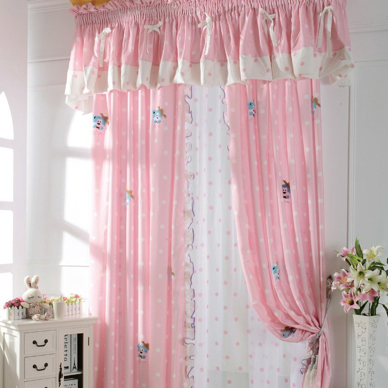 Best Cute Patterned Pink Kids Room Curtains For Little Girls With Pictures