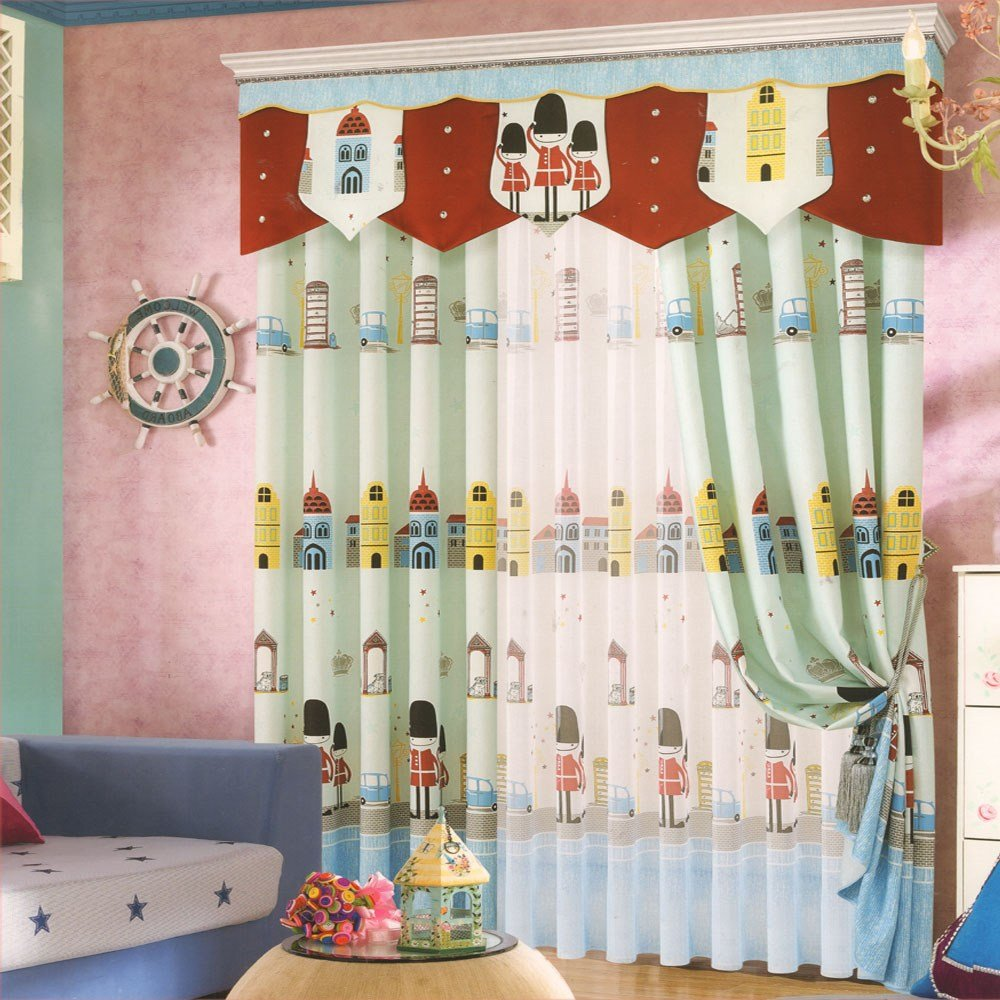 Best Cartoon Patterns Kids Curtains Boys For Bedroom No Valance With Pictures