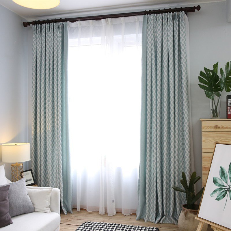 Best Sage Green Patterned Floor To Ceiling Modern Bedroom Curtains With Pictures