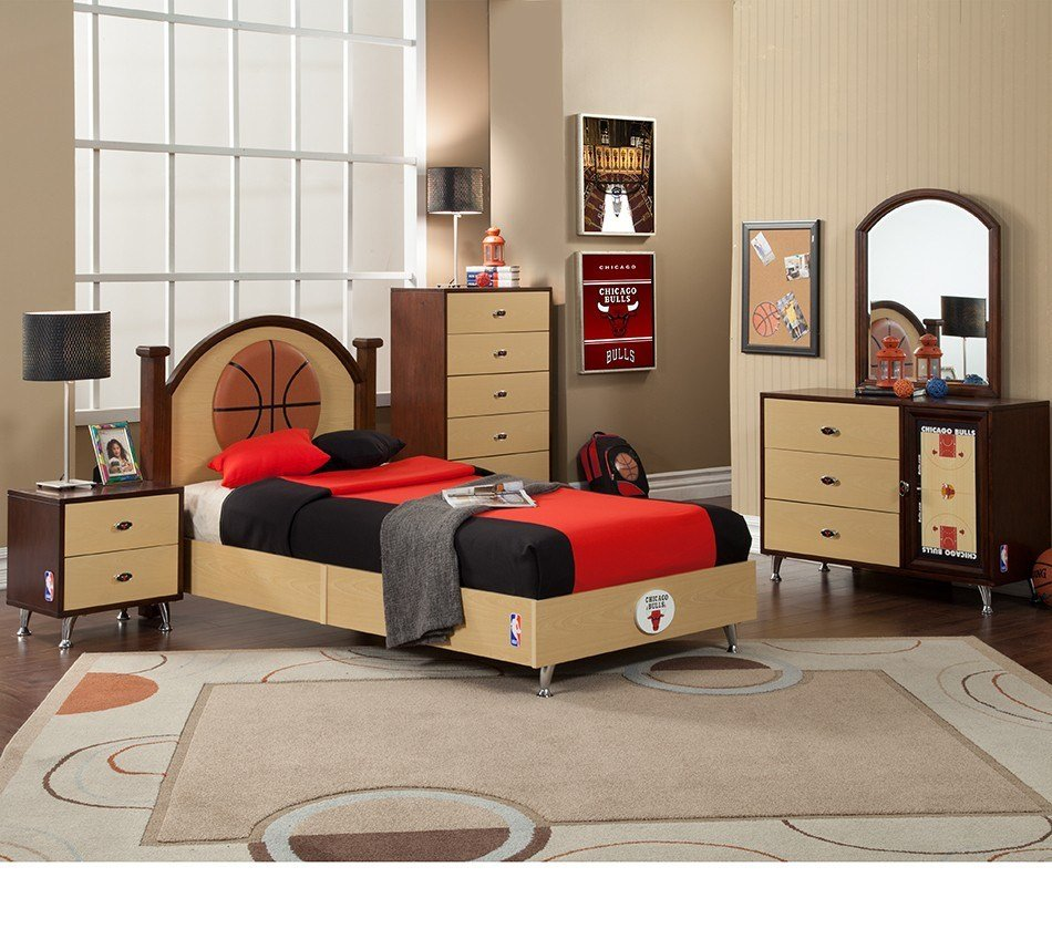 Best Dreamfurniture Com Nba Basketball Chicago Bulls Bedroom In A Box With Pictures