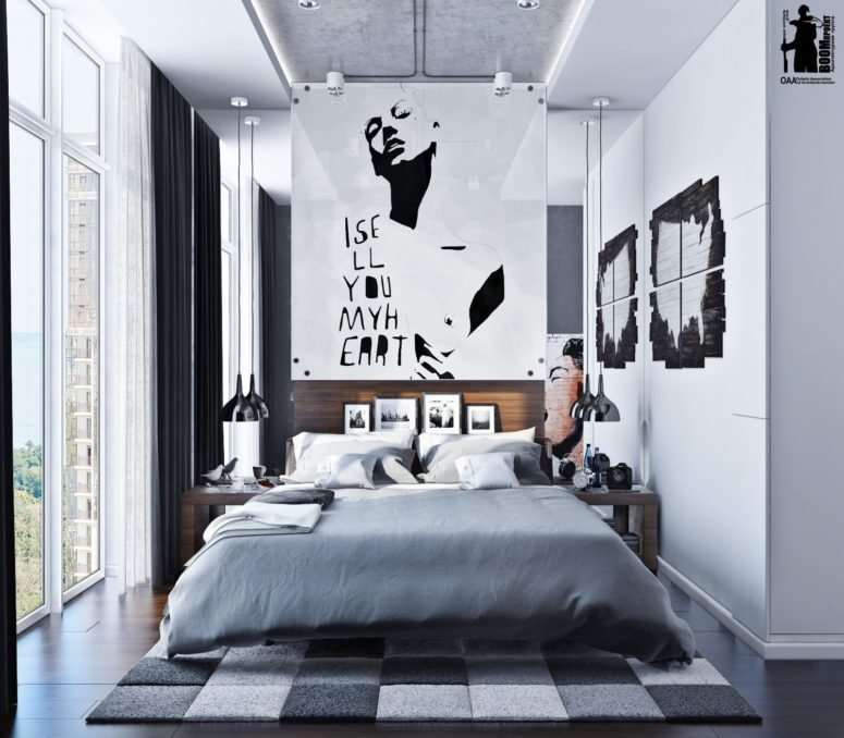 Best Modern Urban Bedroom Decor In Grey And White Digsdigs With Pictures