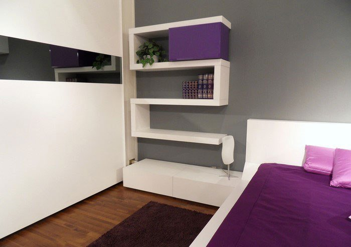 Best Modern Bedroom Design With Unusual Wall Shelves Digsdigs With Pictures