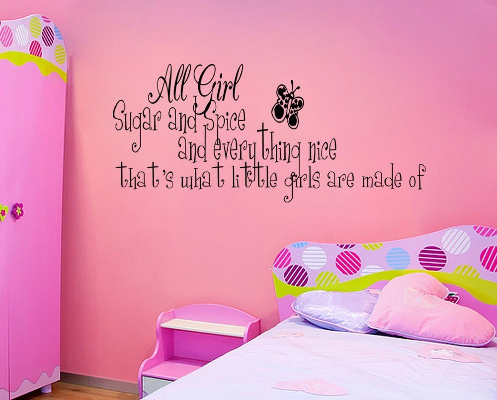 Best Sugar And Spice Little Girls Room Vinyl Wall Quote Decal With Pictures
