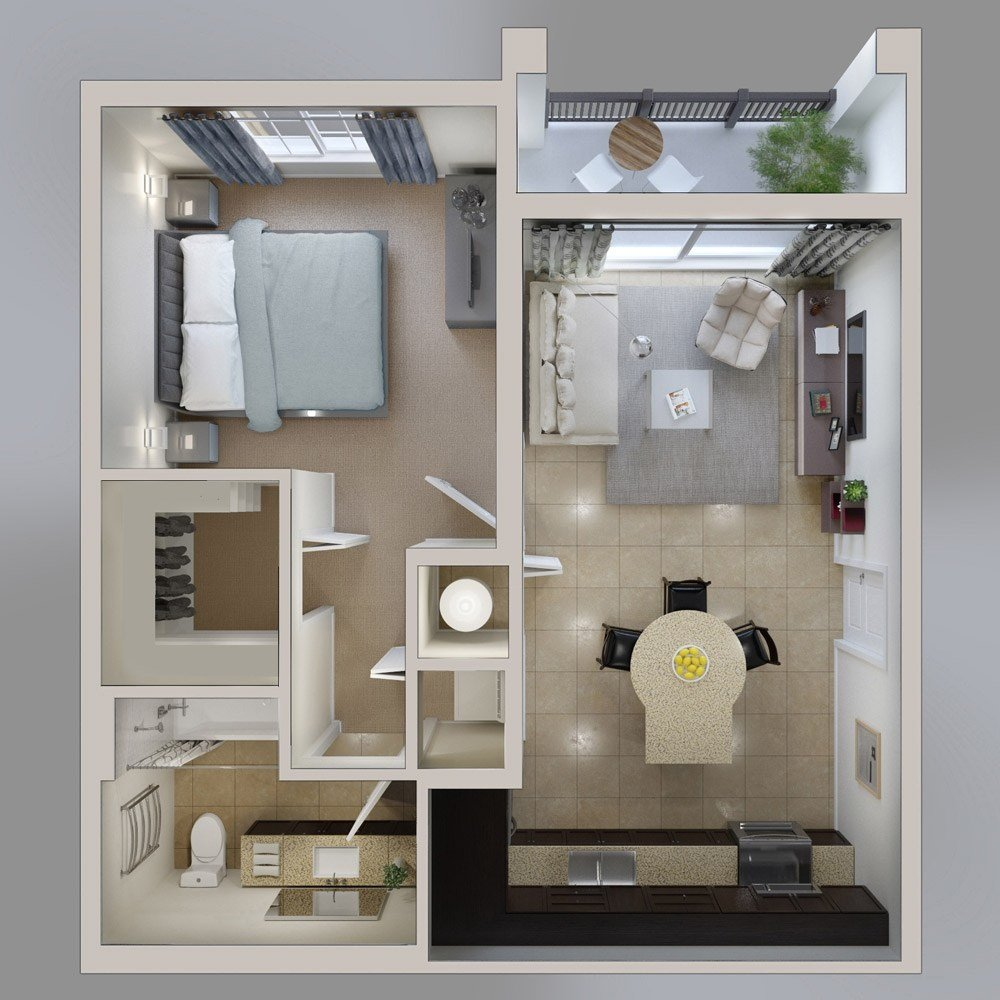 Best 1 Bedroom Apartment House Plans Futura Home Decorating With Pictures