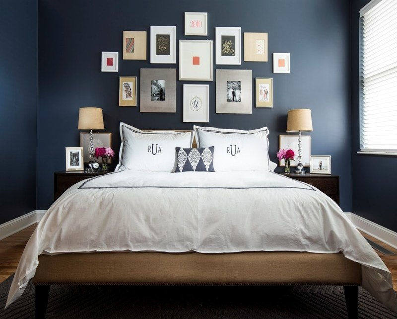 Best Dark Blue Modern Bedroom Blue Bedroom Decorating Ideas With Pictures