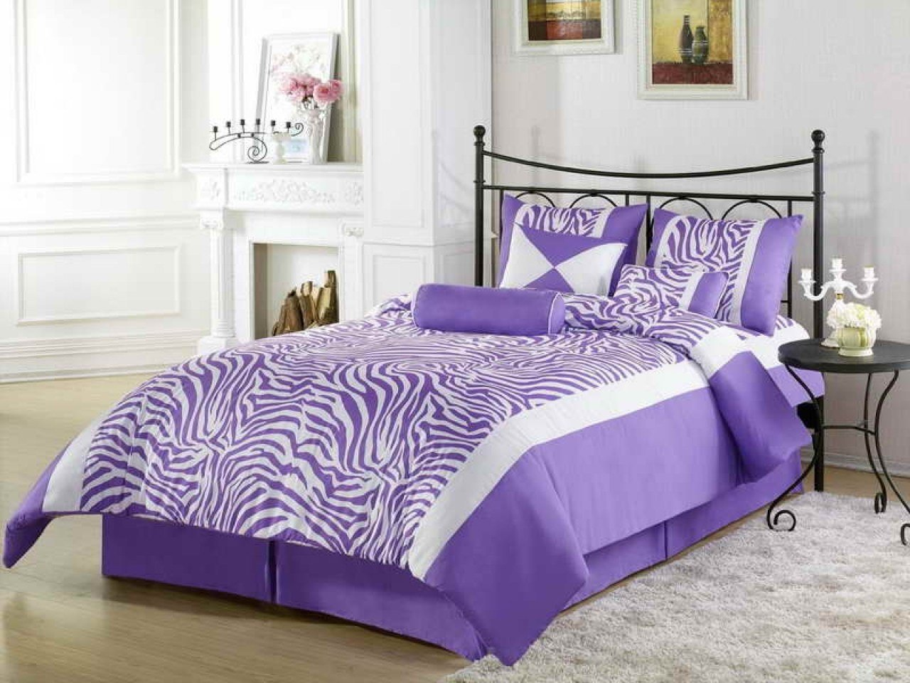 Best Blue Wall Bedroom Decorating Ideas Purple Zebra Print Bedroom Ideas Purple And Black Zebra With Pictures