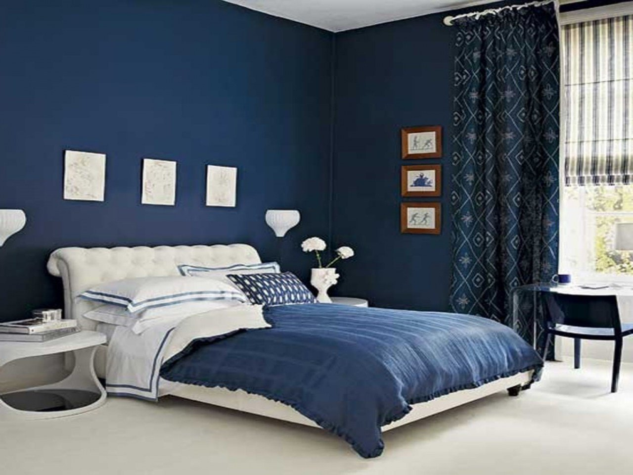 Best Royal Blue Painted Bed Room Blue Paint Colors For With Pictures