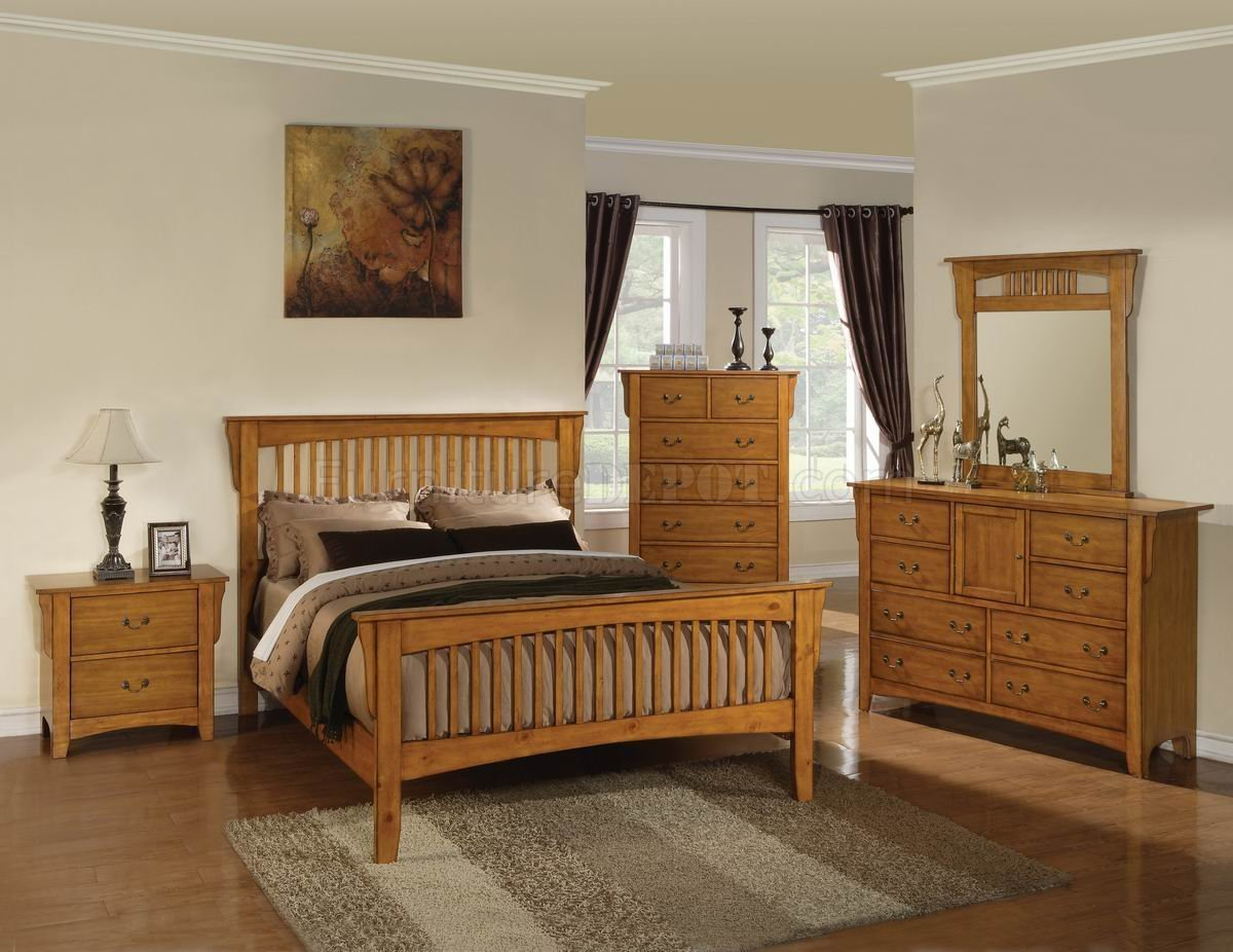Best New Pine Finish Classic 5Pc Bedroom Set W Options With Pictures