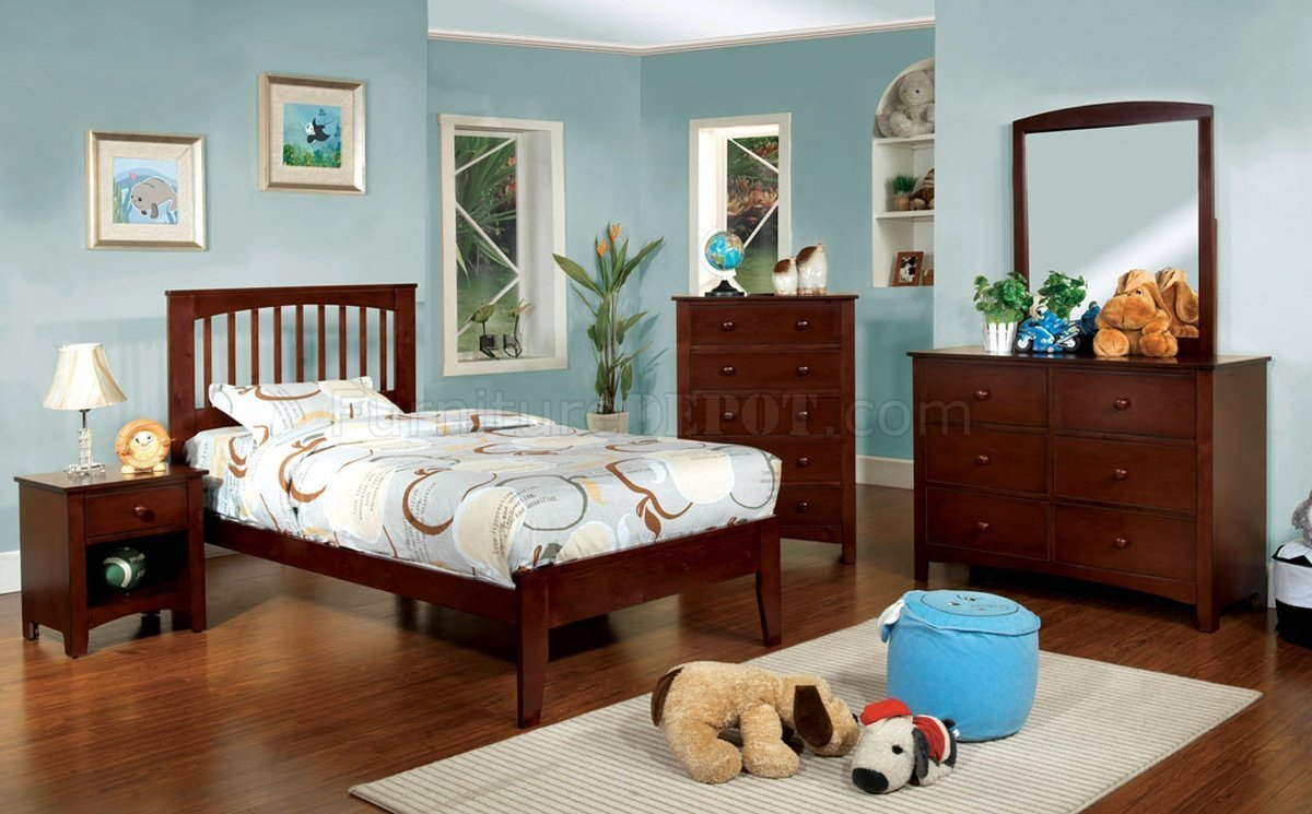 Best Cm7908Ch Pine Brook Kids Bedroom 4Pc Set In Cherry W Options With Pictures