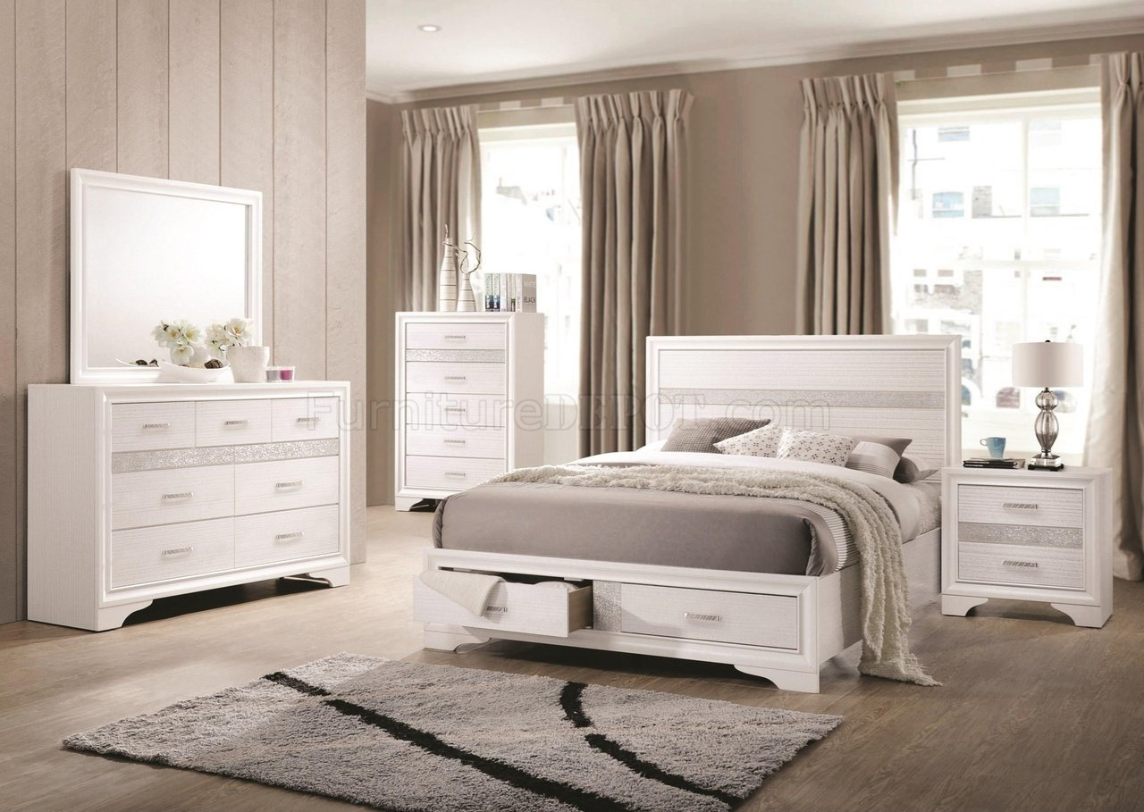 Best Miranda 205111 Bedroom Set 5Pc In White By Coaster W Options With Pictures