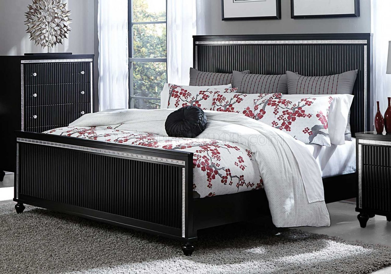 Best Sakura Bedroom 1941 In Black By Homelegance W Options With Pictures