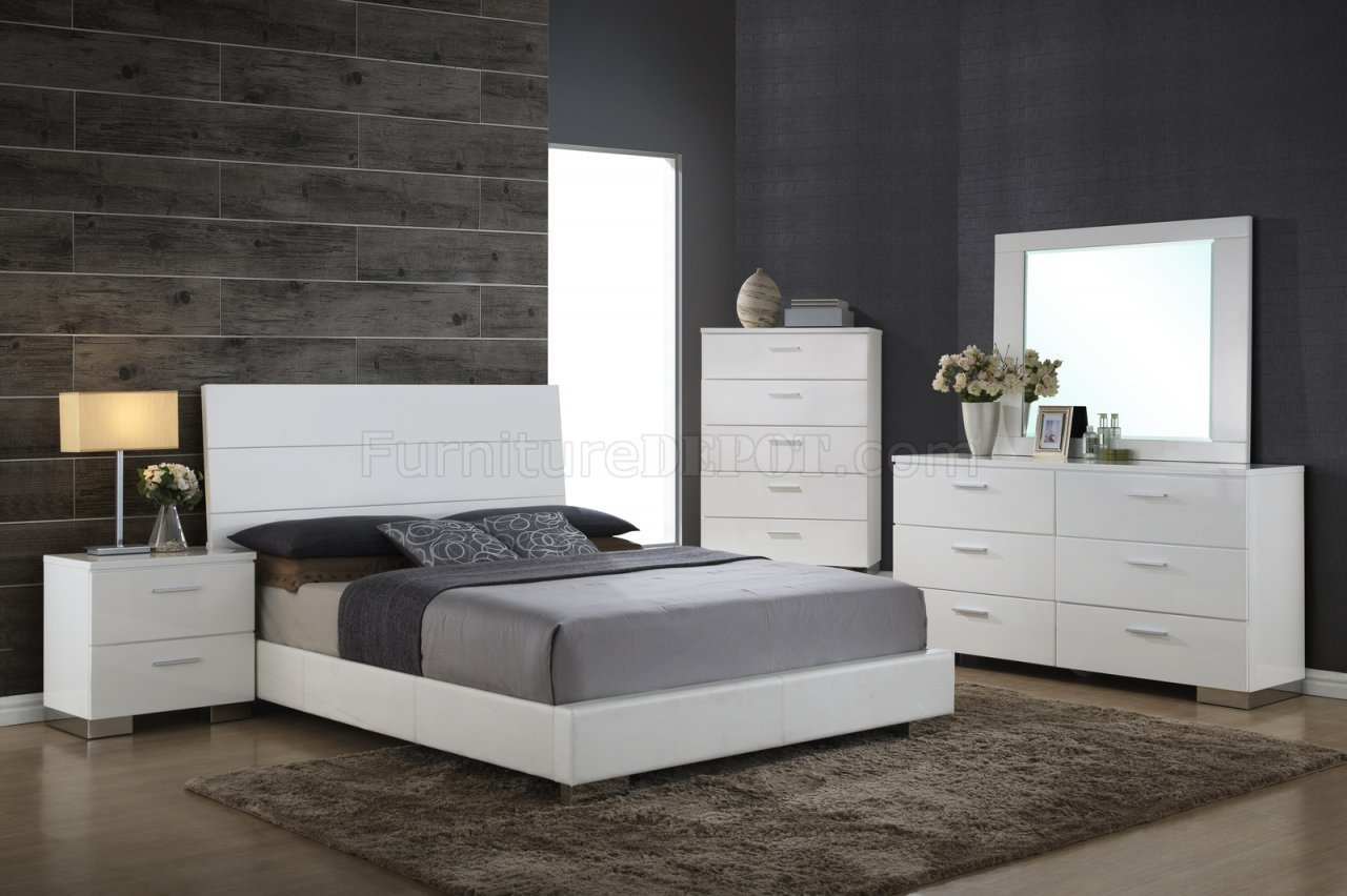 Best Nova Bedroom 5Pc Set In White By Global W Options With Pictures